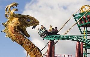 Cobra's Curse Roller Coaster at Egypt Region