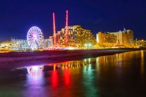 Daytona Beach at night