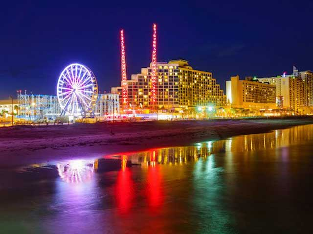 Daytona Beach at night