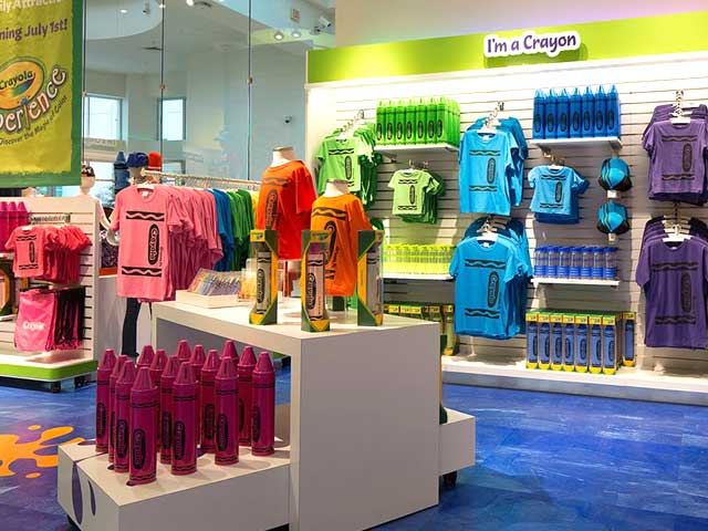 "alt=""Crayola Gift Store at Crayola Experience Orlando"""