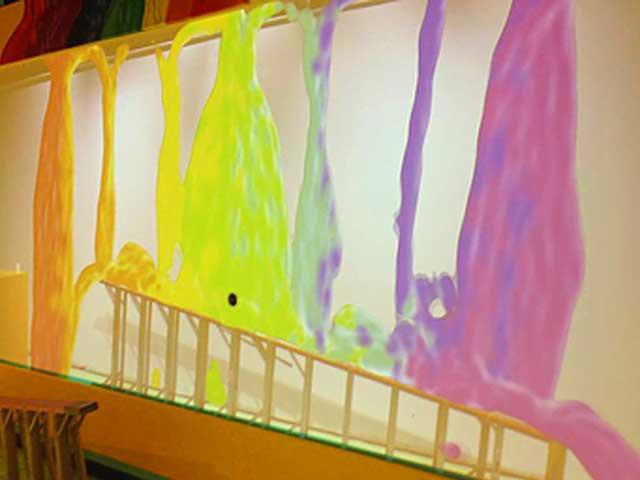 Rainbow Rain at Crayola Experience Orlando